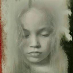 blackandwhite baby art sad black