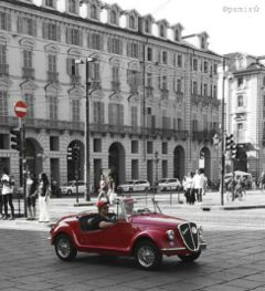 color photography car turin italy