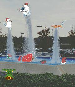 christmas photography humor fountain freetoedit