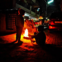 freetoedit bonfire campfire winter night