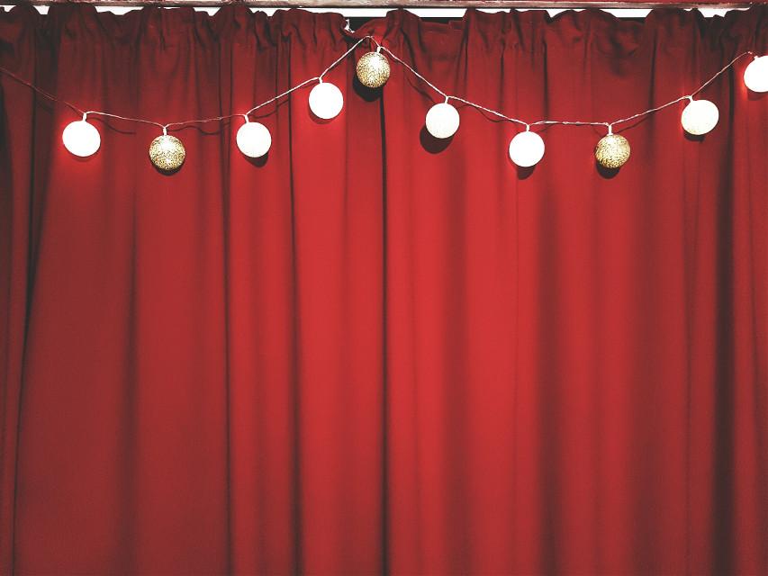 #FreeToEdit  #red #lights #drama #curtain  #curtains  #remixed  #remixes  #remixit  #remixme  #drapery   #bedroom  #view from bedroom window  #bedroom-window