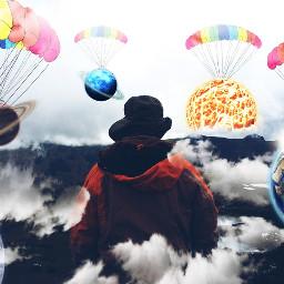 freetoedit floating planet remixed sky