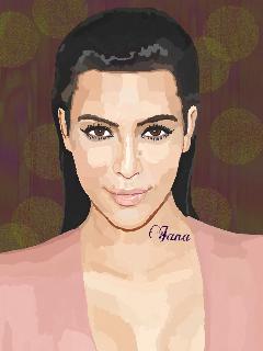 portrait drawing kimkardashian