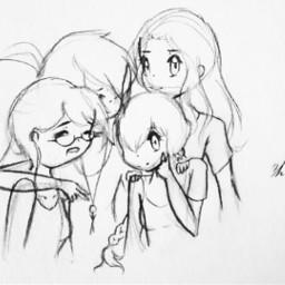 wip senpai grouppic girls friends