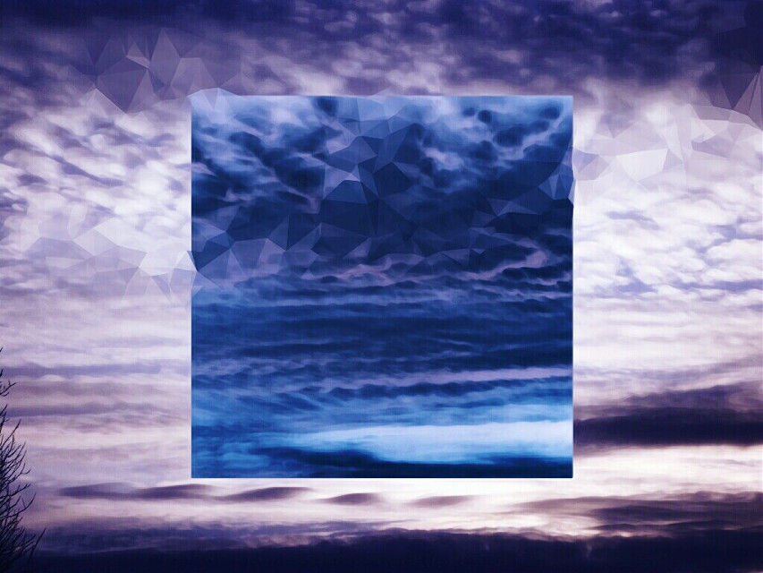 CMYK II  #surreal  #invert #twilight  #skyscape  #polygon #clouds  #texture