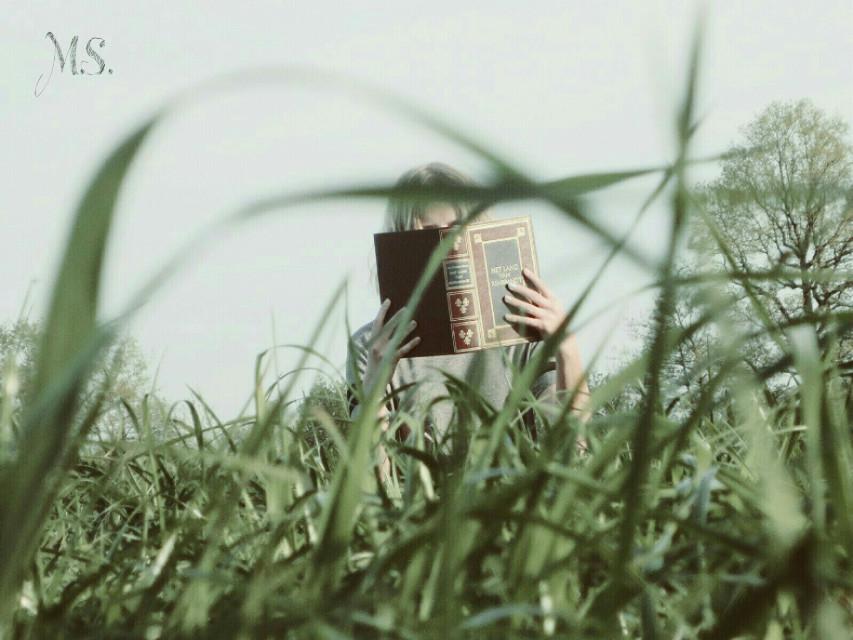 #creativeselfie  #me  #girl  #grass  #book  #photography  #portrait  #nature  #green  #art  #artisticselfie