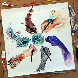 hands lovely earth persepective love freetoedit