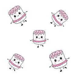 cutout mydrawing marshmallows cuteness freetoedit