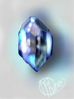drawing gemstone saphire blue mydrawing