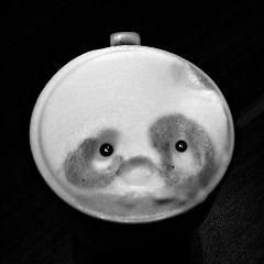 coffee face pandabear sweet bear