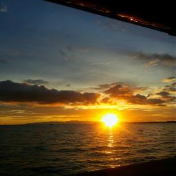 sunset horizon papua indonesia indonesianpicsart