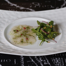 scallop carpaccio rocketsalad chef chefnung