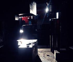 power light shadows steel