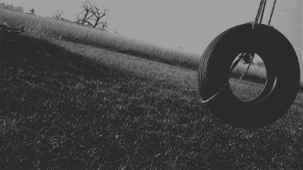 kansas tree tireswing blackandwhite horizon