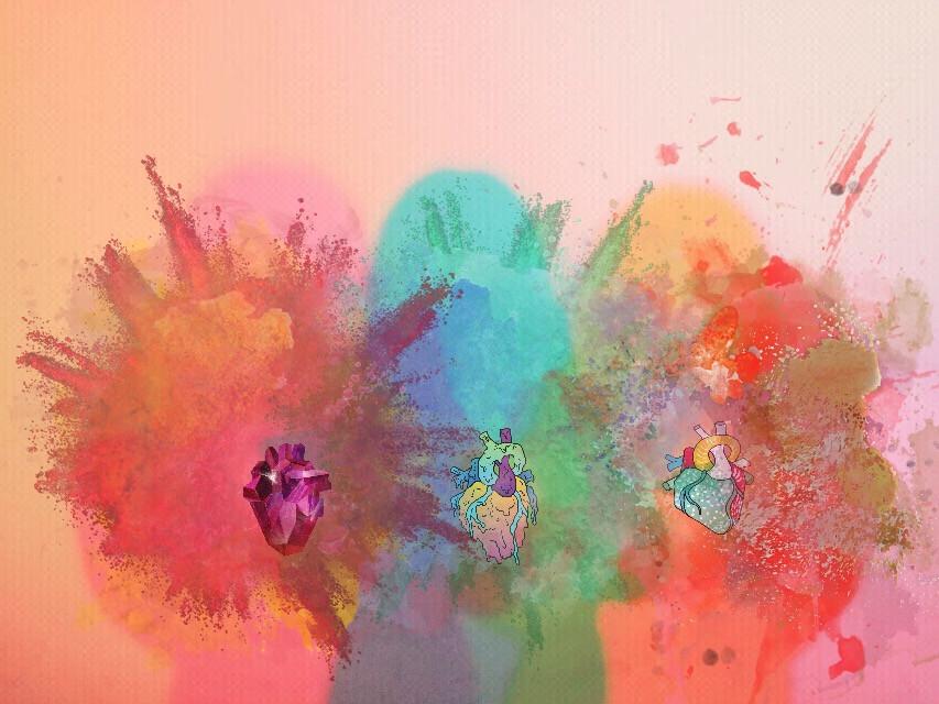 #FreeToEdit #hearts#colorpowder