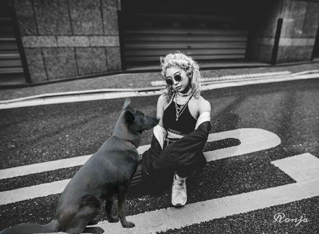 freetoedit myedit woman dog street