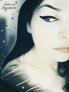 artistic rain drops blackandwhite artisticselfie