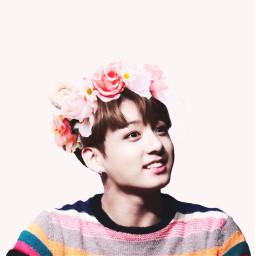 jungkook bts flowers pink freetoedit